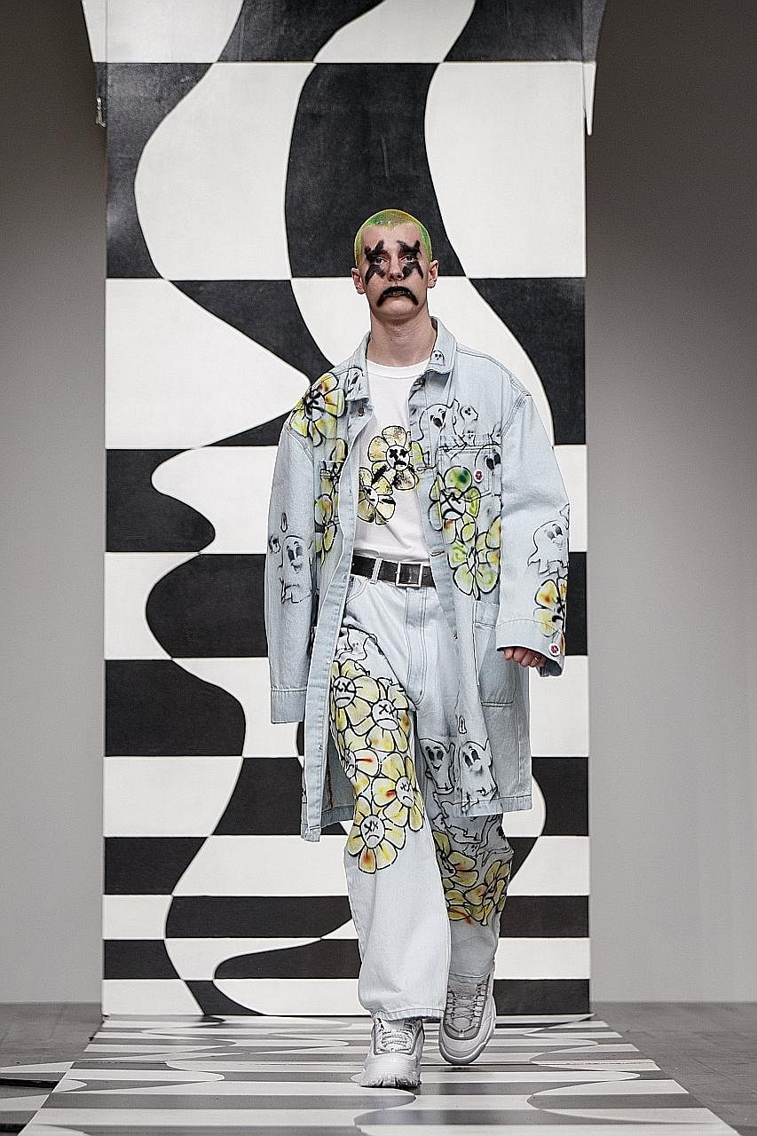 The luxury streetwear (left) of Edward Crutchley and the neo-punk, hip-hop wardrobe (right) of Liam Hodges will be on show.