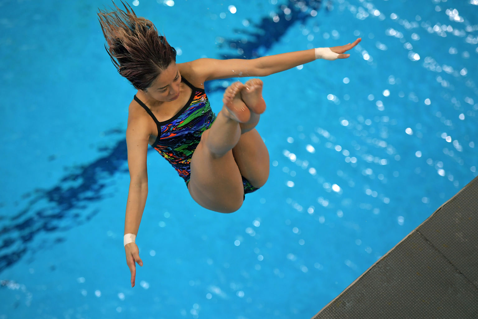 Making the grade for this year's Asian Games in Jakarta and Palembang is a priority for local platform diver Myra Lee. That goal of hers will drive her through this year's toils.
