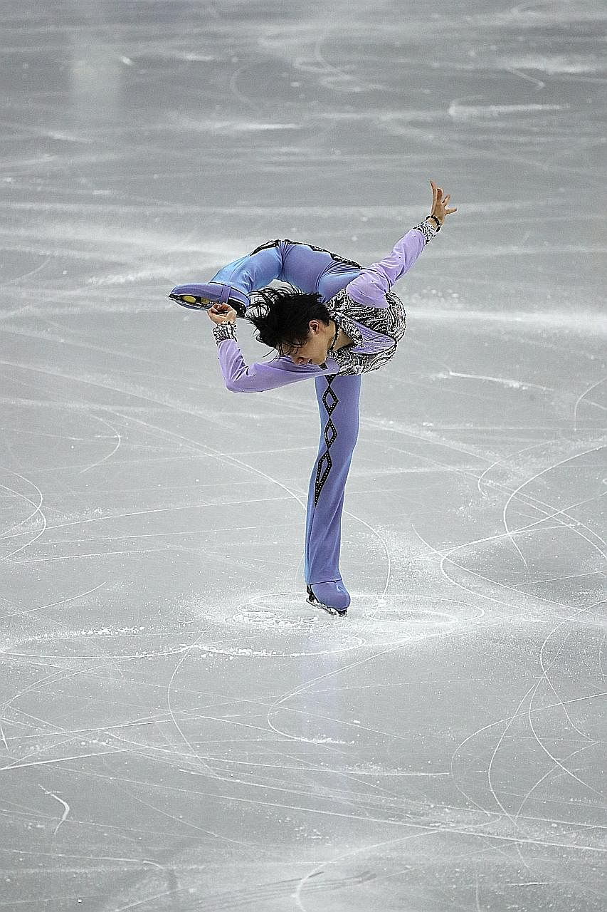 Japan's Yuzuru Hanyu suffered a training injury that has jeopardised his chances at the next Winter Olympics.