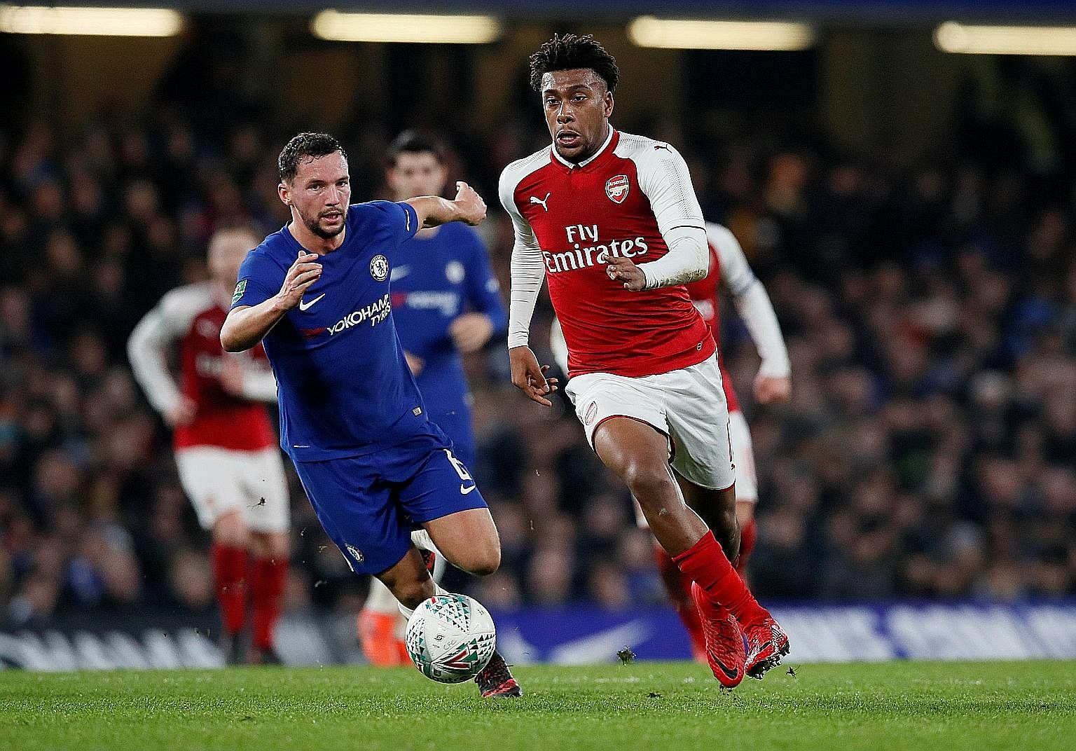 That a rough gem, Alex Iwobi, being pursued by Chelsea's Danny Drinkwater, was Arsenal's best performer in their 0-0 League Cup draw is a far cry from the days when Gunners fans could brag about their 2003-04 season, when they went an entire league c