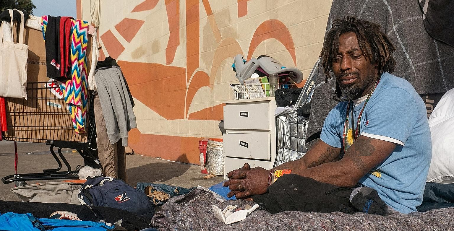 "Mr ""Kaels"" Raybon has been living on the streets of San Francisco since he was released from jail more than 15 years ago. The streets of San Francisco are home to some of the US' half a million urban homeless. Homelessness is only the visible tip of"