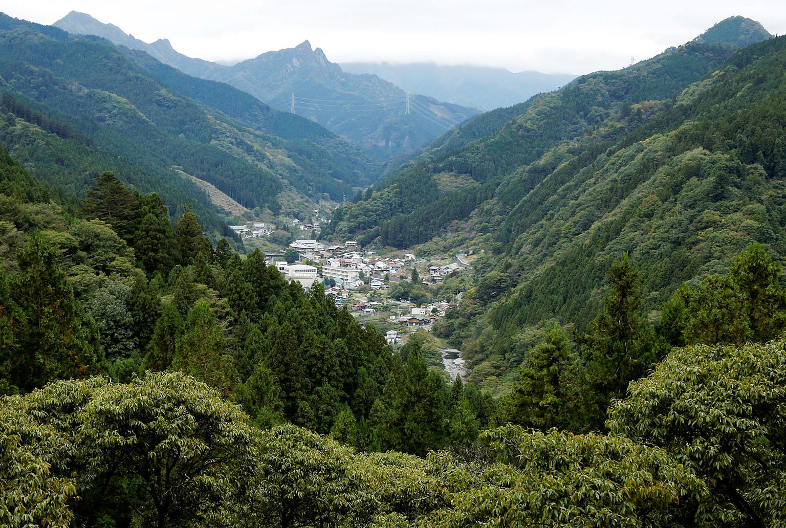 The hamlet of Nanmoku Village nestled between mountains in Gunma prefecture. In Japan, land that was once a feudal treasure is now so worthless that its owners are running away.