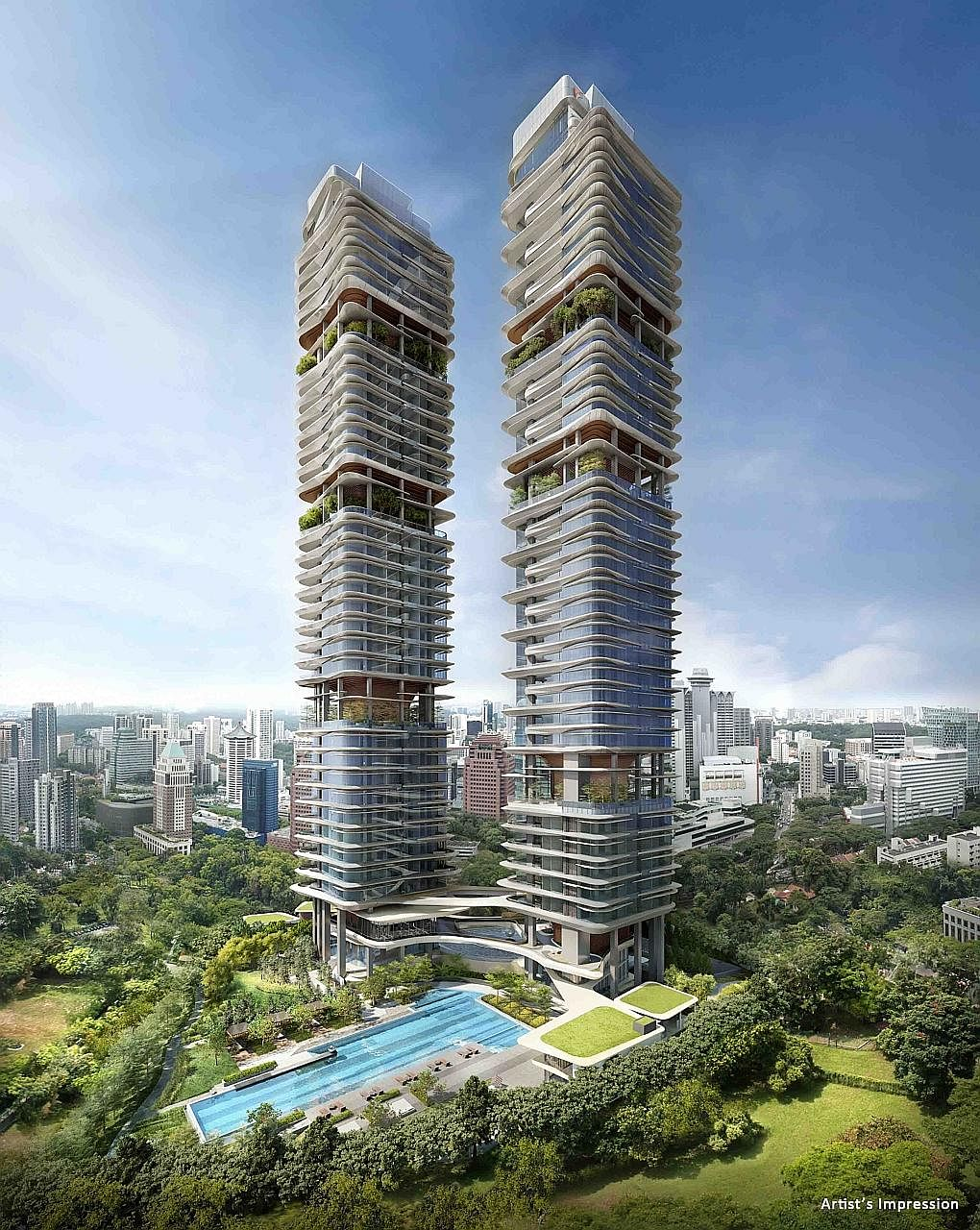 Only 25 units of the 124-unit New Futura, in Leonie Hill Road, were released during the private viewing last Thursday. A third of the buyers were Singaporeans, while two-thirds were Singapore permanent residents and foreigners.