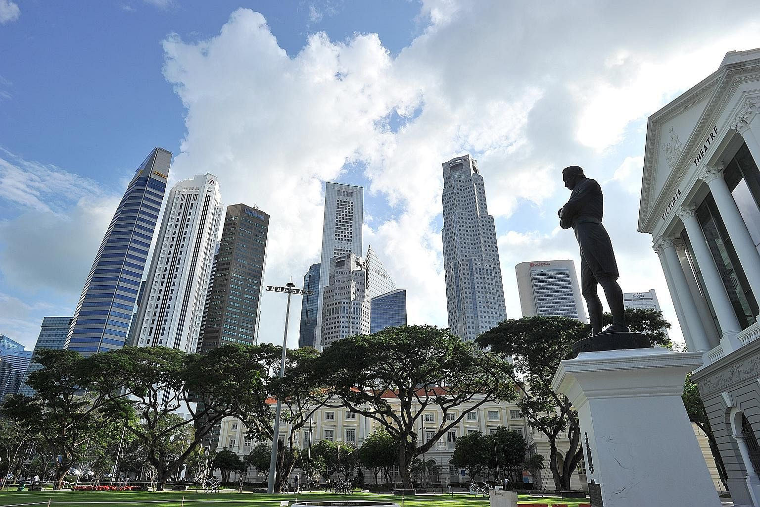 Stamford Raffles' statue outside Victoria Theatre & Victoria Concert Hall is a reminder of how his vision helped transform Singapore over 200 years. Singaporeans must now forge a new, equally ambitious vision for the next 200..
