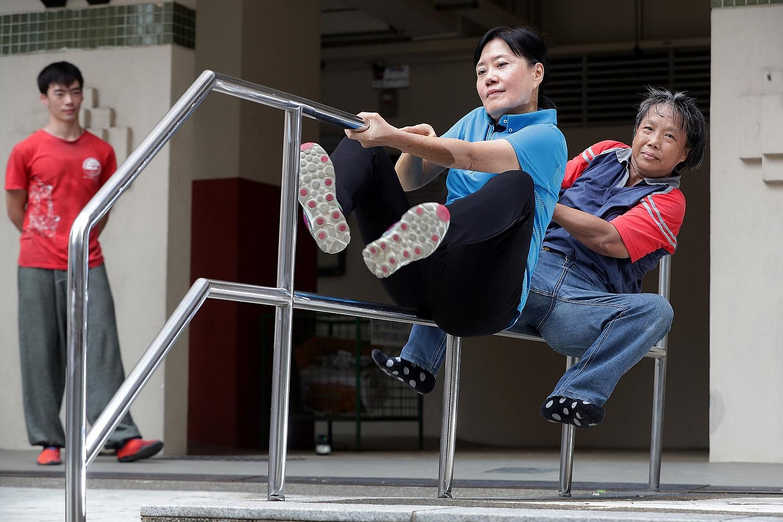 Meet Singapore's Parkour Aunties, Singapore News & Top Stories - The  Straits Times