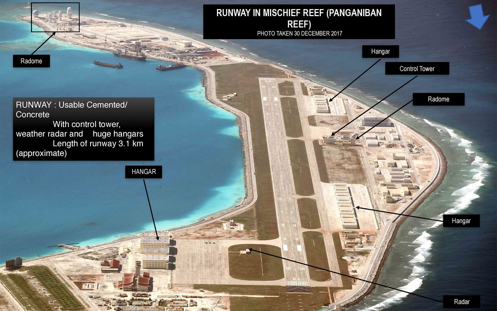 Image result for Mischief Reef, china base, photos