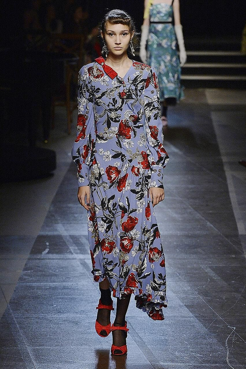 6c6fc29213213 Floral prints were featured at the Erdem Spring Summer 2018 fashion show in  London.