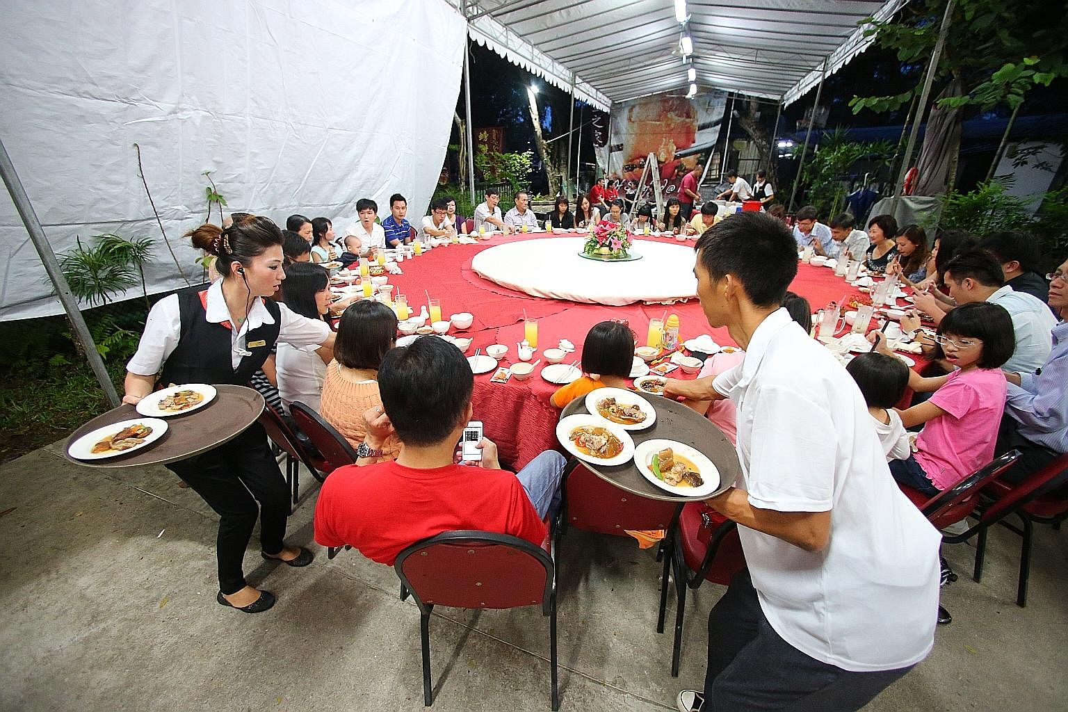The reunion dinner is traditionally held on the eve of Chinese New Year, and serves as an occasion for family bonding. TNP FILE PHOTO