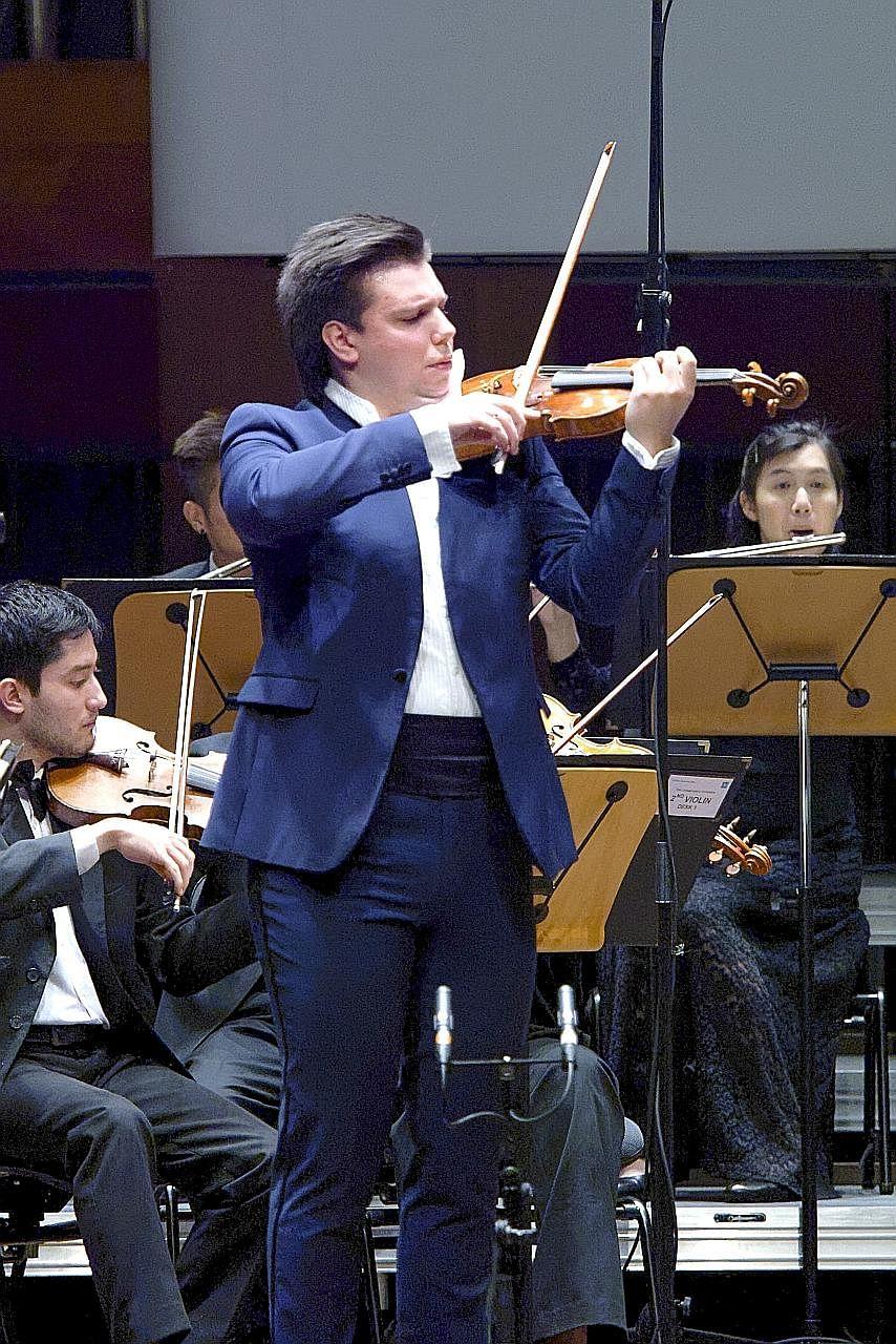 Russian's breathtaking bravura scores top violin prize