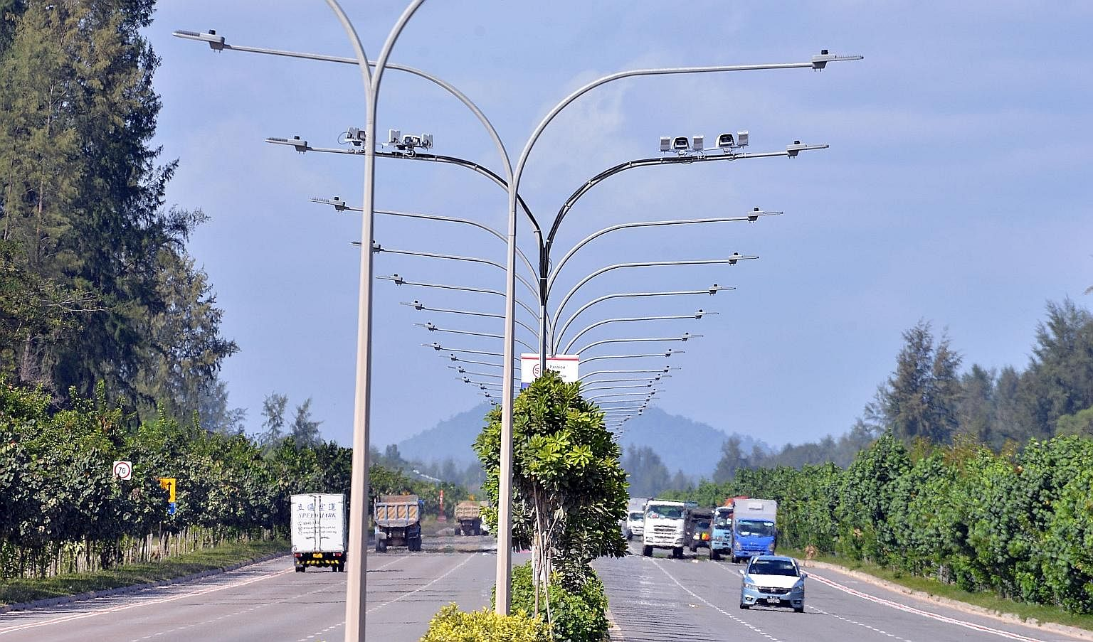 The average speed camera system in Tanah Merah Coast Road (left and above) is likely to be activated in the next few months. It is the latest initiative by the authorities to curb speeding and improve overall road safety.