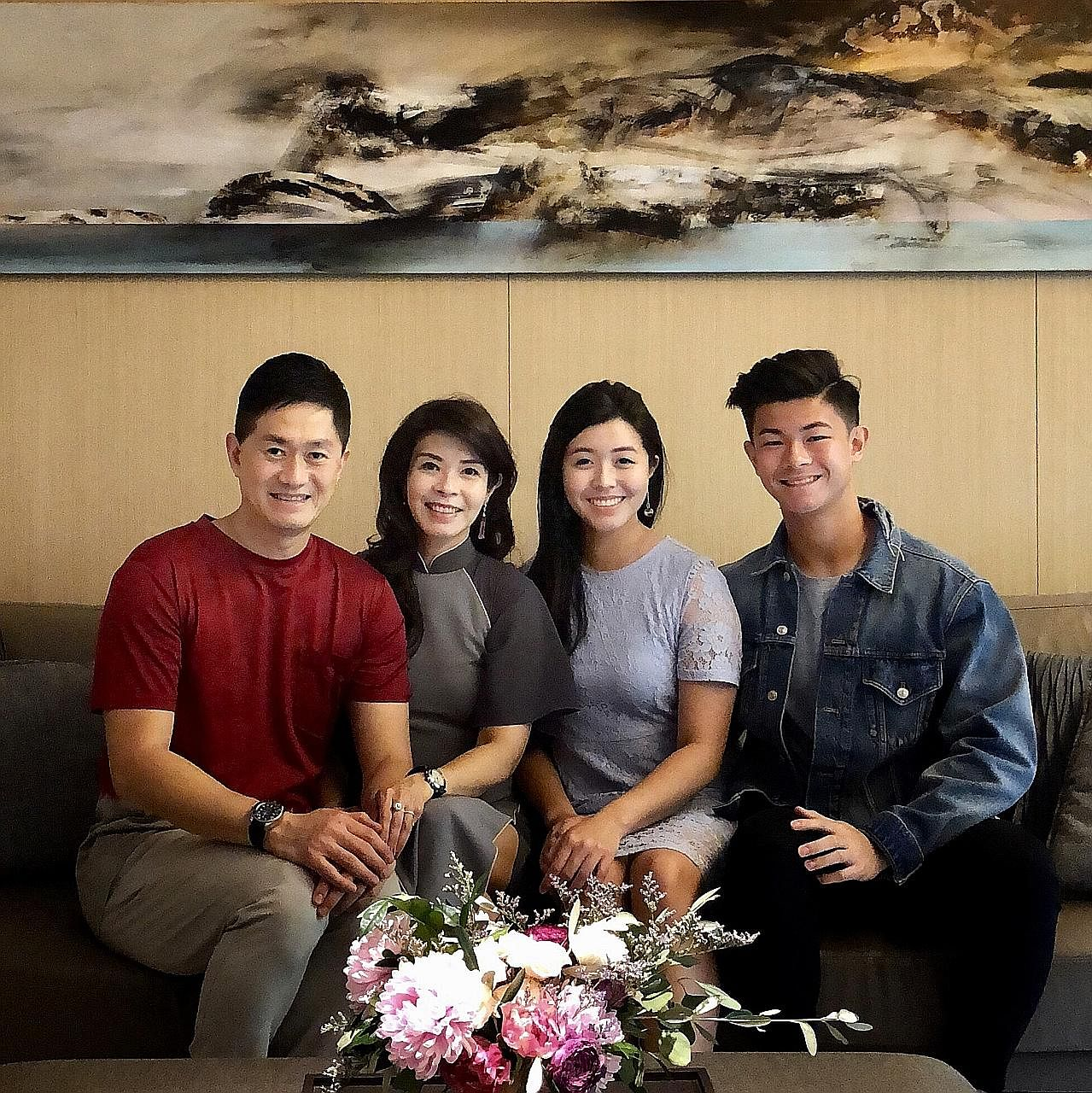 Mr James Quan and Ms Winnie Chan with their children, Vera and Josh, in a recent photo.