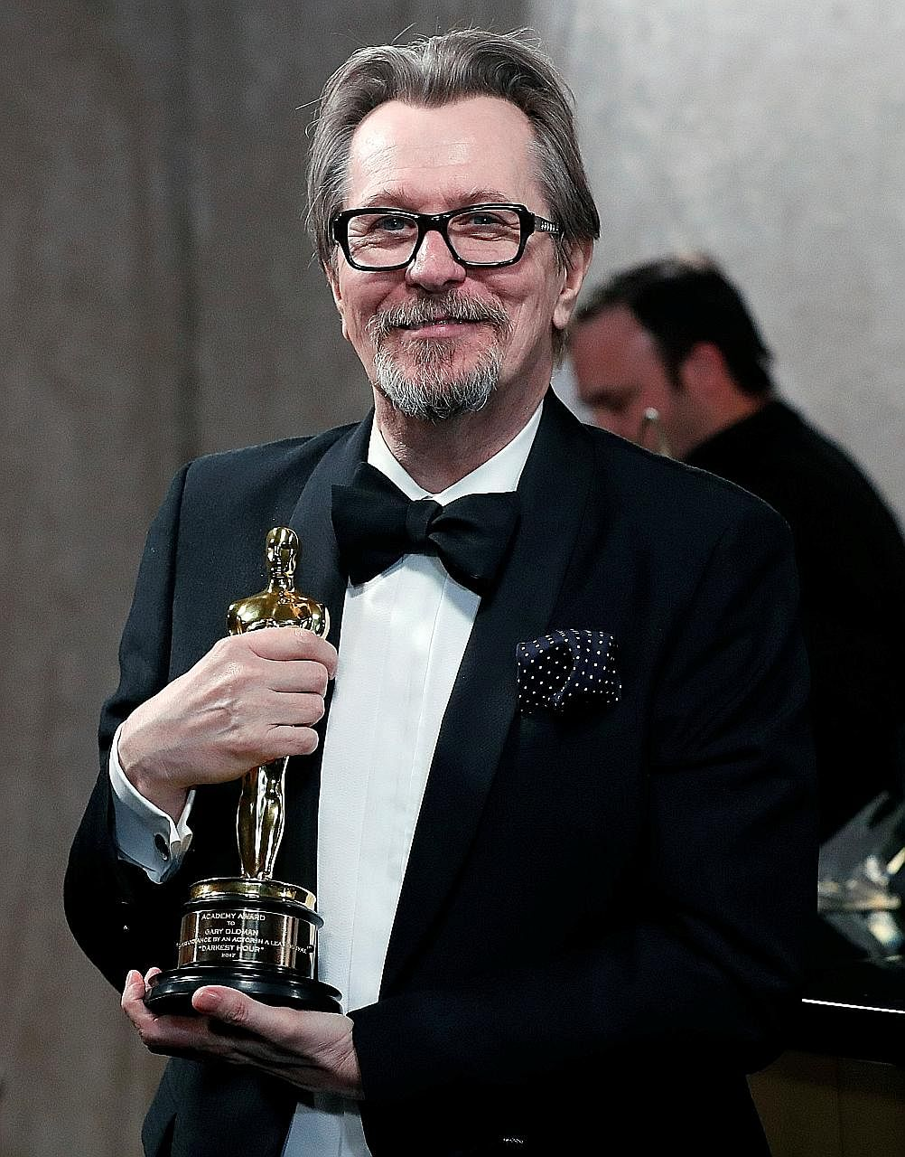 Gary Oldman won the Best Actor award for playing the late British prime minister Winston Churchill in Darkest Hour.