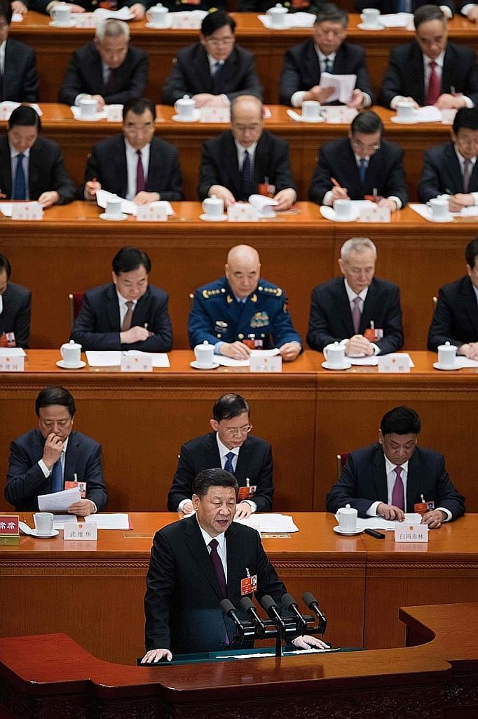 "Chinese President Xi Jinping at the close of the annual National People's Congress yesterday. Among other things, he said China will ""continue to actively participate in the reform and construction of global governance, and contribute more Chinese wi"