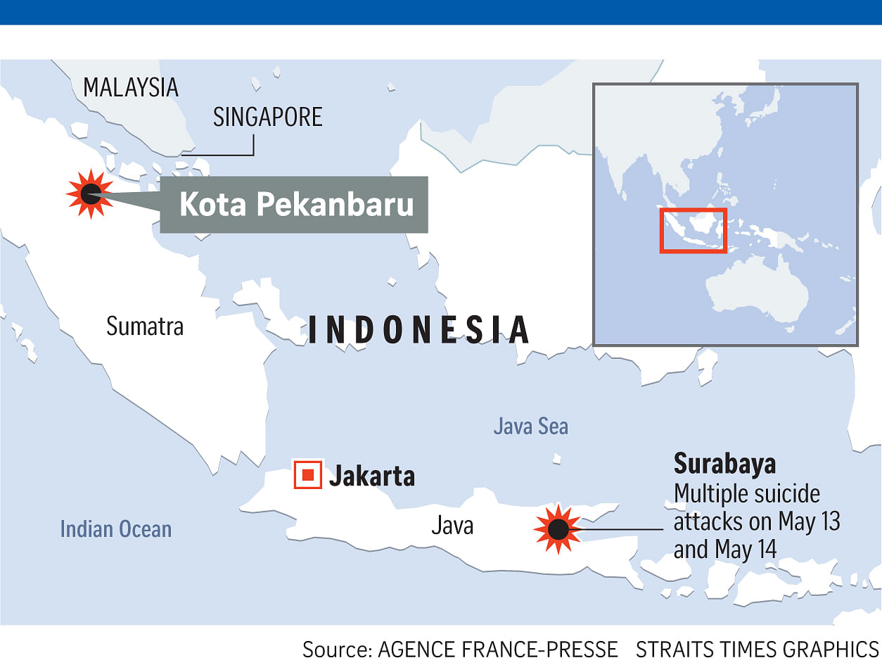 Indonesia police shoot dead three men after attack on Riau HQ