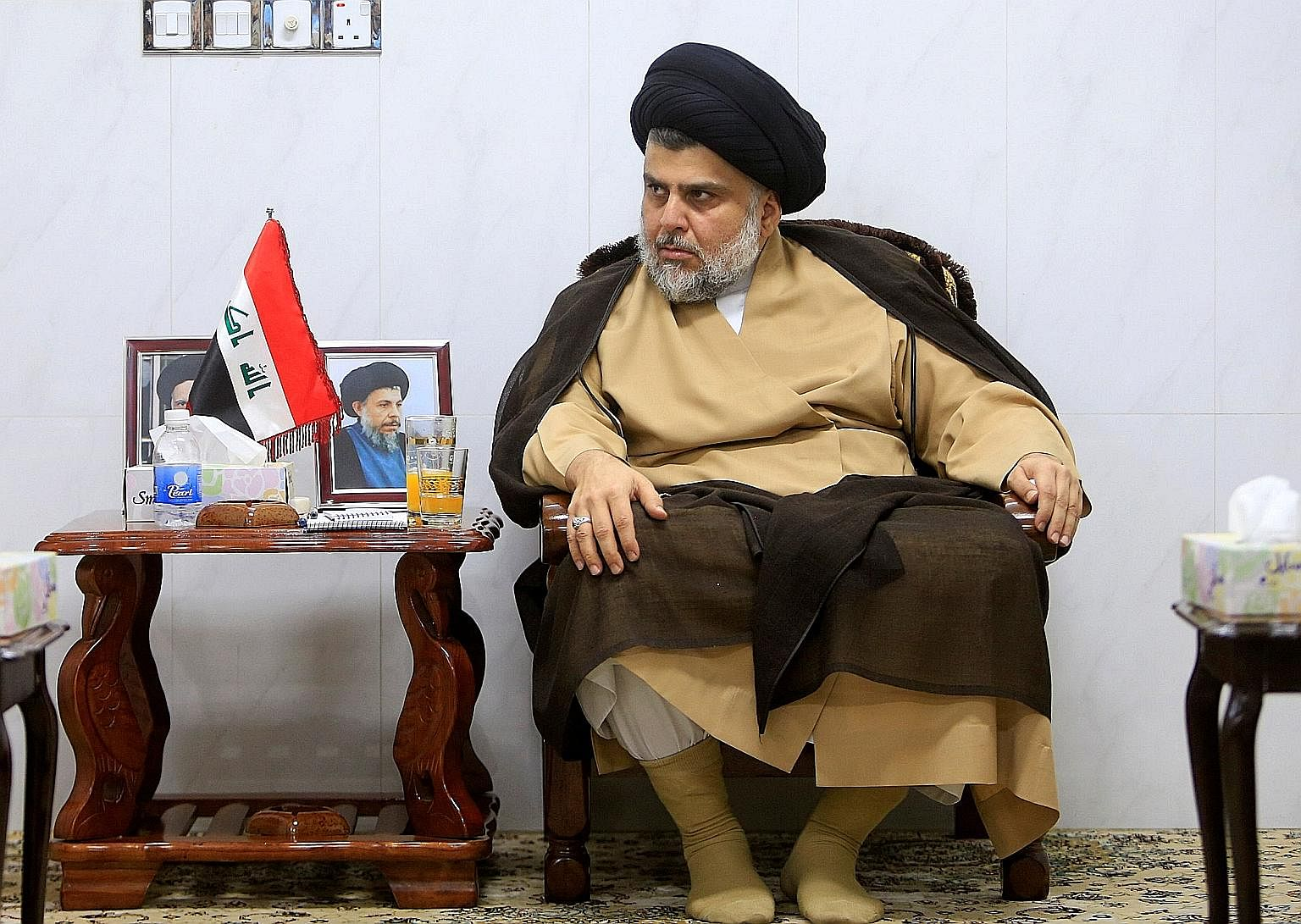 Mr Moqtada al-Sadr cannot become prime minister as he did not run in the election, but his bloc's victory puts him in a position to have a strong say in negotiations to form a coalition.