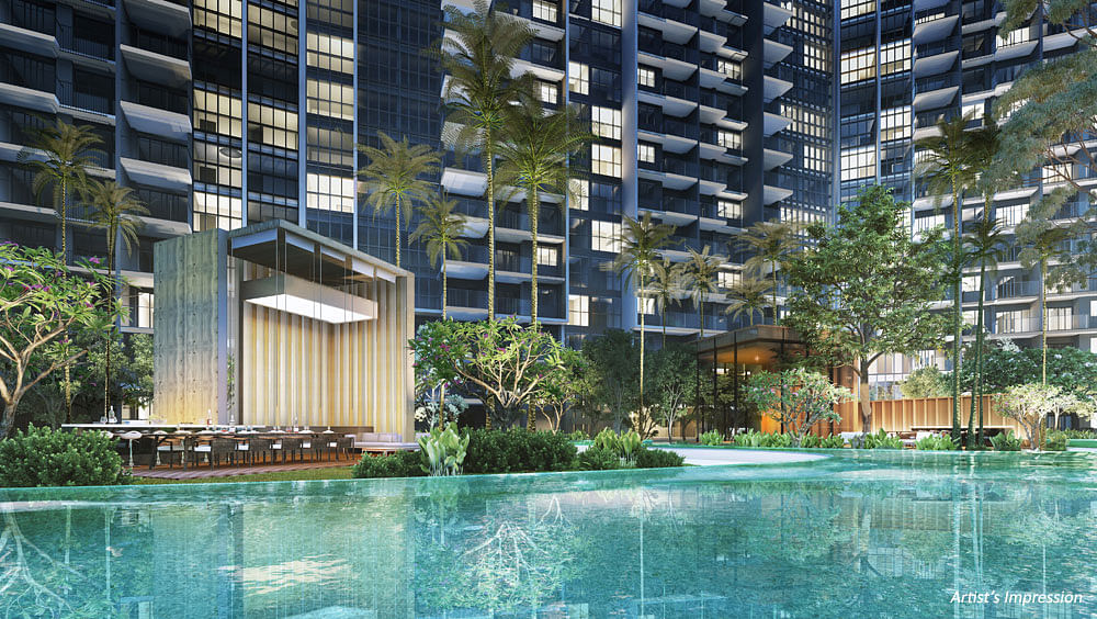The alfresco and barbecue island at Affinity