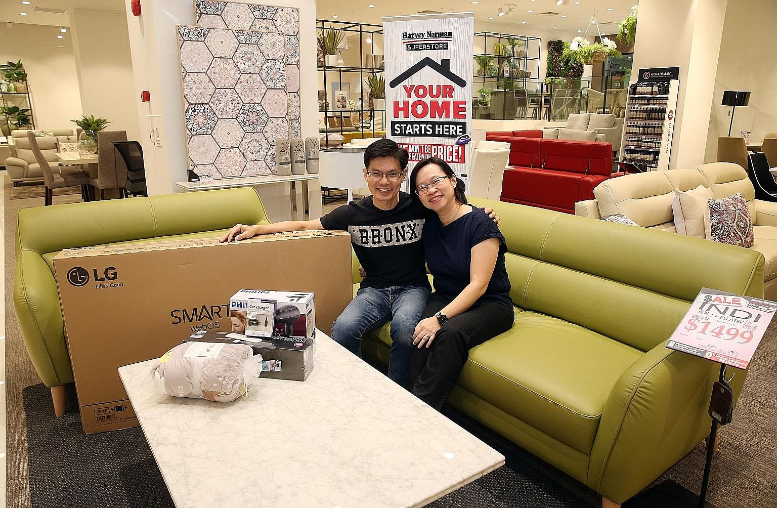 Mr Lim Kim Guan and Ms Wang Hui Hui are the victors, with more than $7,209 in savings, or 59.28 per cent off the total price of their basket of goods, which was worth $12,161.80 in total.