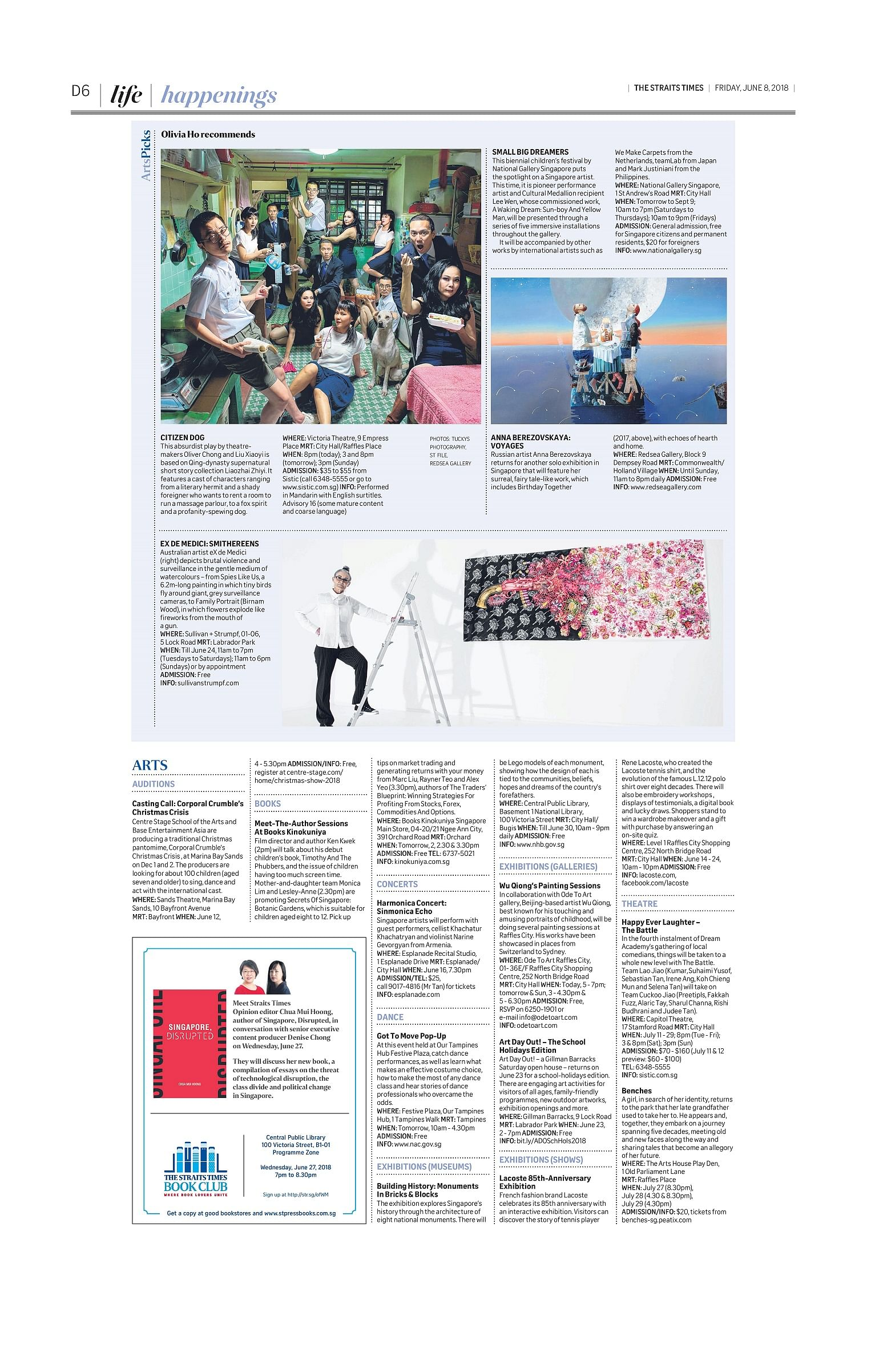 Happenings - Arts, Arts News & Top Stories - The Straits Times