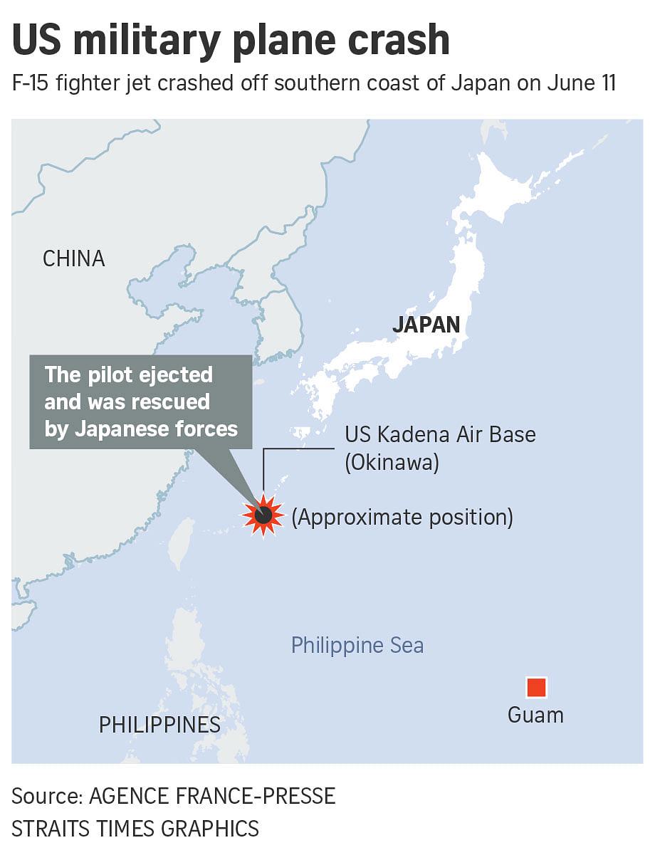 Us Air Force Bases In Japan Map.Us F 15 Fighter Jet Crashes Into Sea Off Japan S Okinawa East Asia