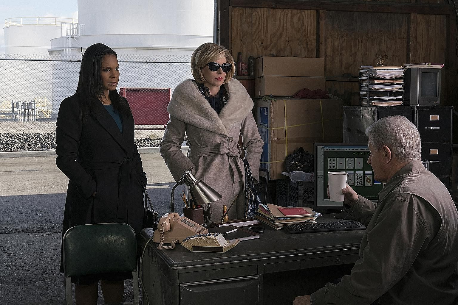 The Good Fight stars Audra McDonald (above left) and Christine Baranski (above centre), while The Split features Nicola Walker (left).