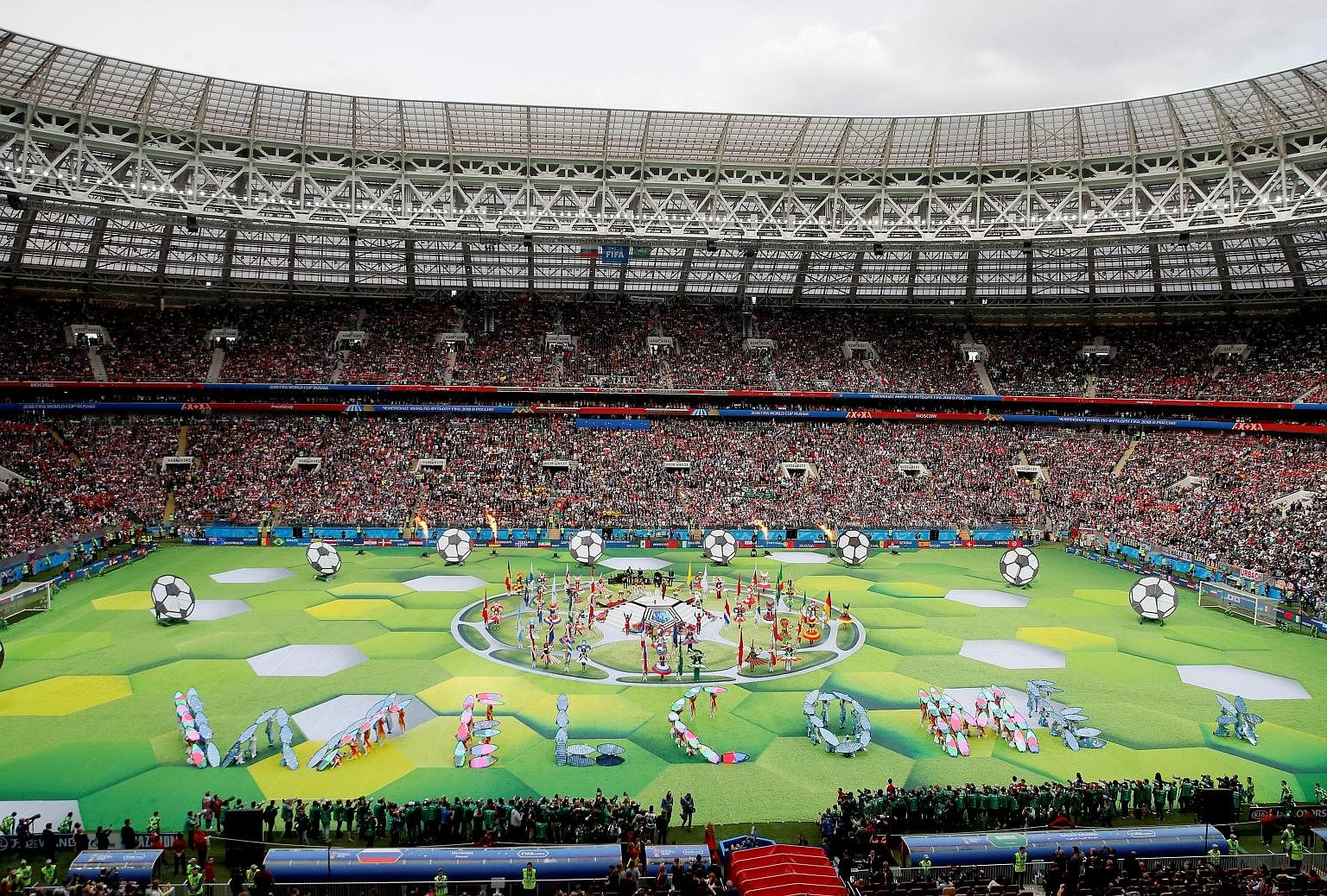 The opening ceremony of the Fifa World Cup was held at Moscow's Luzhniki Stadium yesterday. The tournament was declared open by Russian President Vladimir Putin.