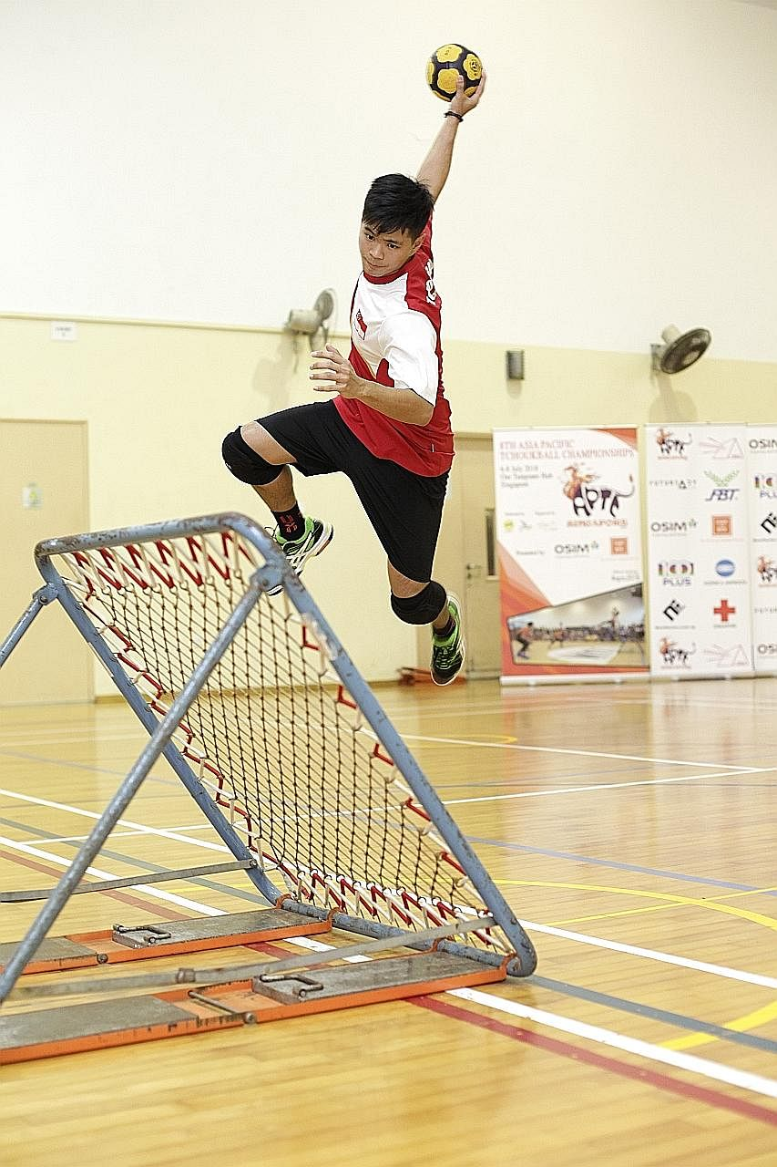 Tchoukball has not only given national player Nico Quek an outlet to forget about his struggles at home, but has also brought him a better way of life.