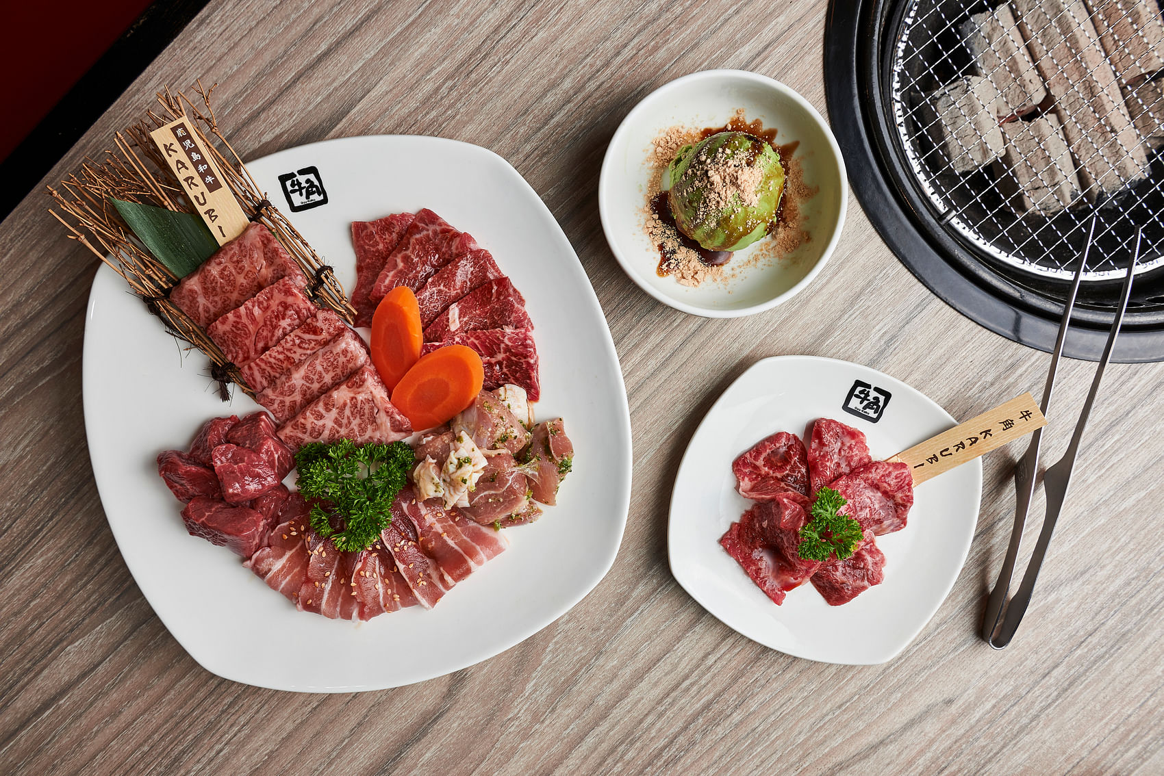 Gyu-Kaku specialises in Japanese barbecued meats. The Gyu-Kaku Recommended Platter is a must-try.