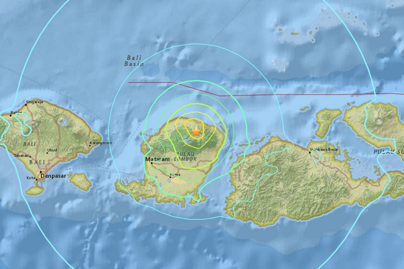 Deadly 6.4-magnitude quake  hits tourist island near Bali