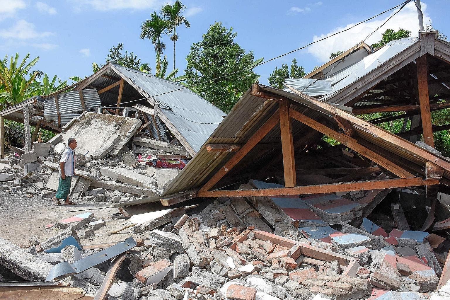 The Indonesian government has declared a three-day state of emergency in Lombok, a popular tourist island near Bali, after it was hit yesterday by an earthquake that killed at least 14 people. Hundreds of homes were damaged by the 6.4-magnitude quake