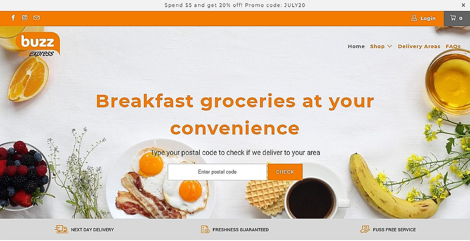From Aug 5, people in the newly covered areas can place breakfast orders online for them to be delivered the next day.