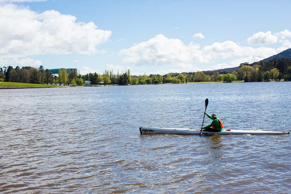 Paddling in Lake Burley Griffin