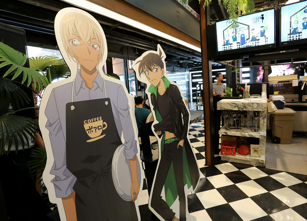 Japanese manga Detective Conan the star of new theme cafe in