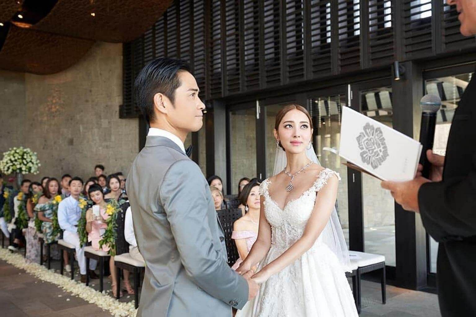 b97e57726d8a Hong Kong stars Grace Chan and Kevin Cheng tie the knot in Bali,  Entertainment News & Top Stories - The Straits Times