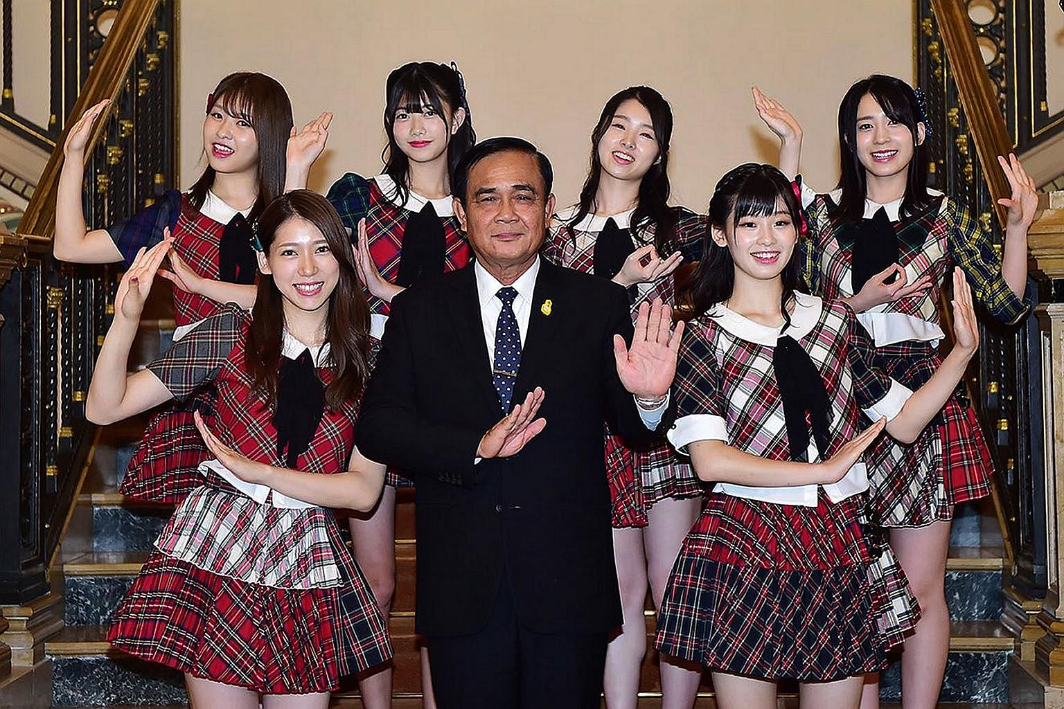 Thai Pm Prayut Hosts J Pop Girl Group Akb48 In Move Seen As Attempt