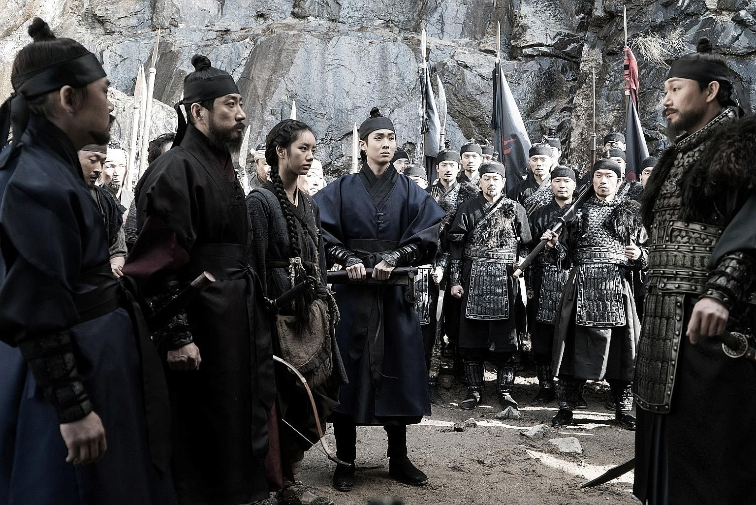 (From far left) Kim In-kwon, Kim Myung-min, Lee Hye-ri, Choi Woo-shik and Park Sung-woong star in Monstrum.