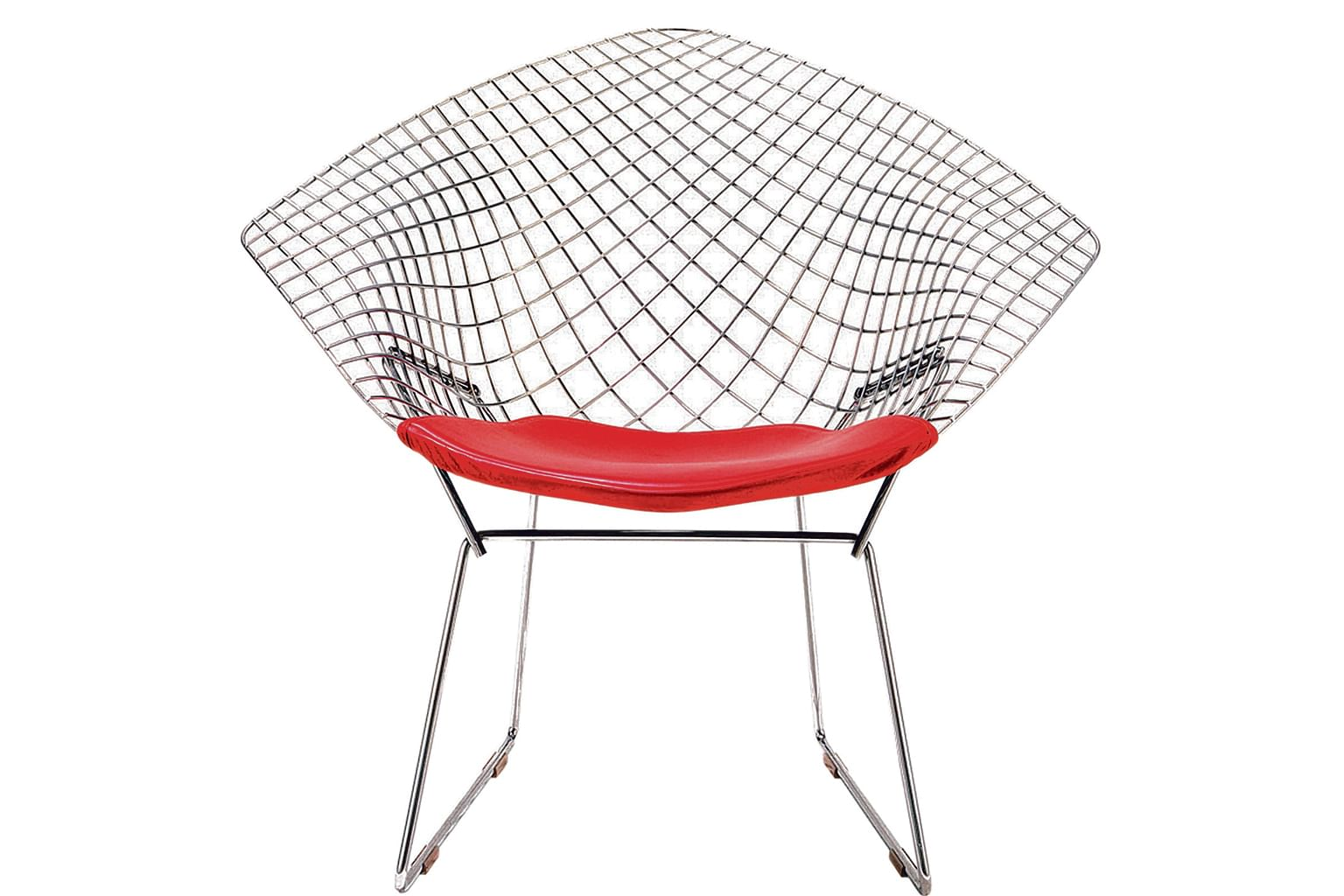 When it debuted in the 1950s the knoll bertoia diamond chair designed by italy born american harry bertoia stood out from the sea of wood furniture a