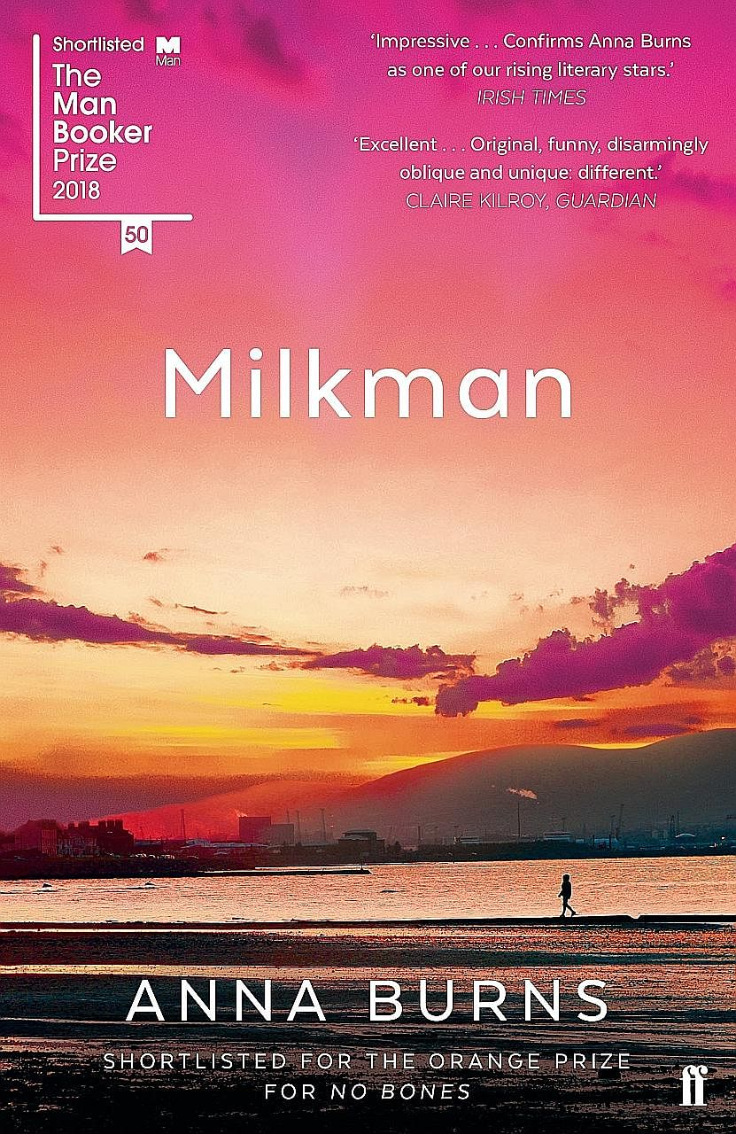 Milkman (above) by Anna Burns (left) is written in the first-person perspective of an 18-year-old girl living in Northern Ireland during the Irish Troubles of the late 20th century.