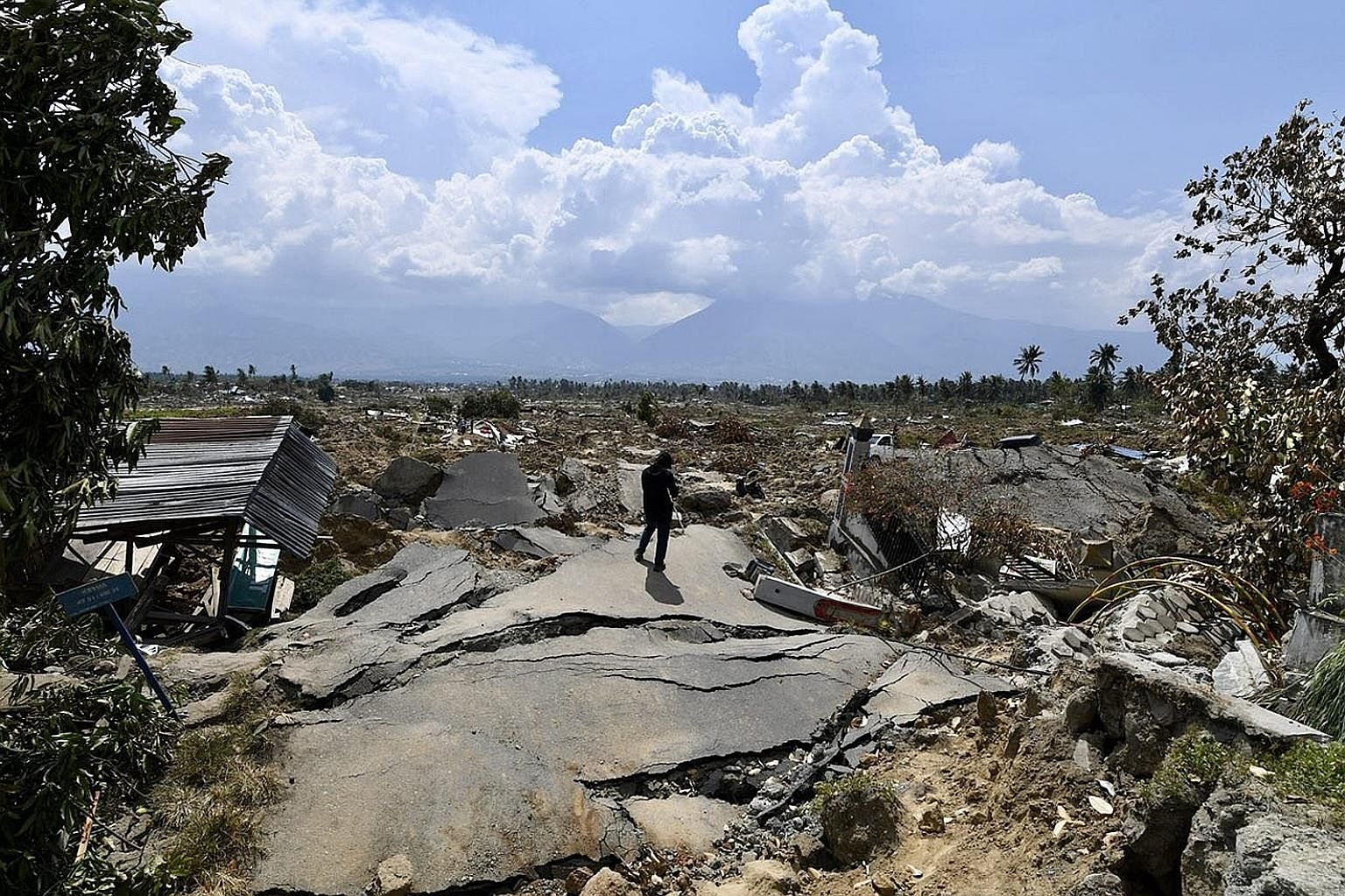 Aftermath of Indonesia's natural disaster  and tsunami