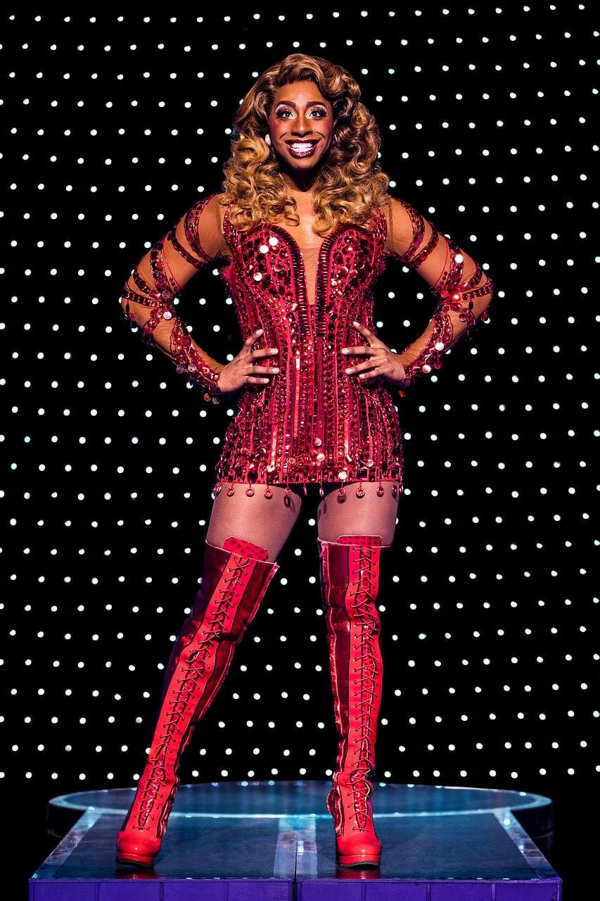 In Kinky Boots, musical theatre performer Jos N. Banks plays drag queen Lola.