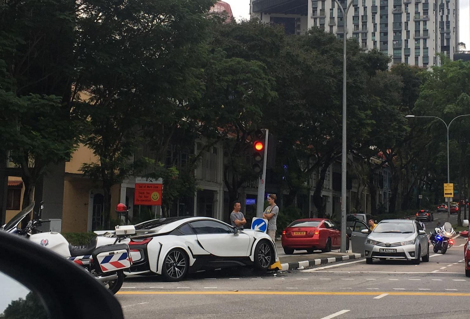 Bmw Sports Car Driver Taken To Hospital After Accident In Cantonment