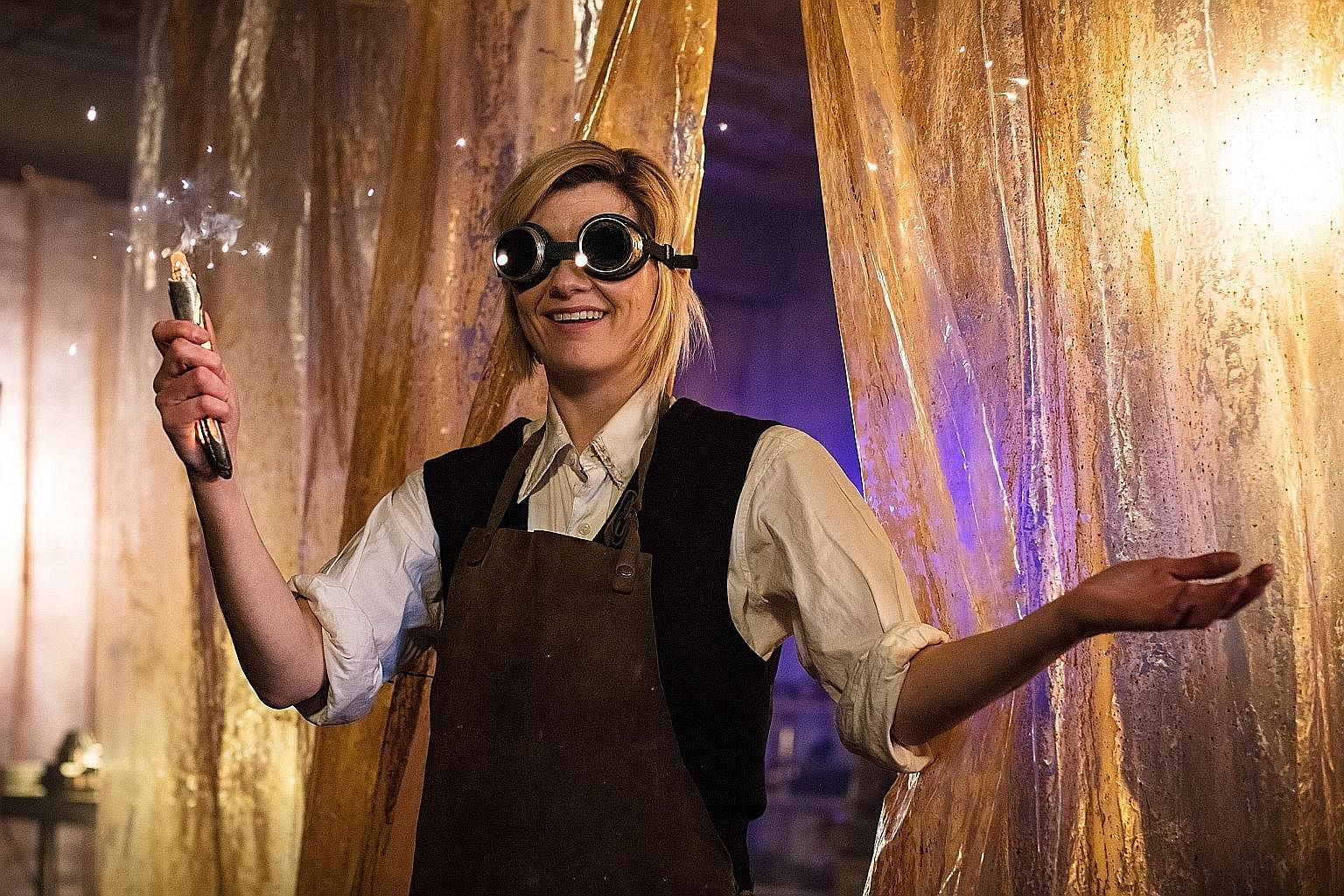 Jodie Whittaker (left) is the first female iteration of Doctor Who.
