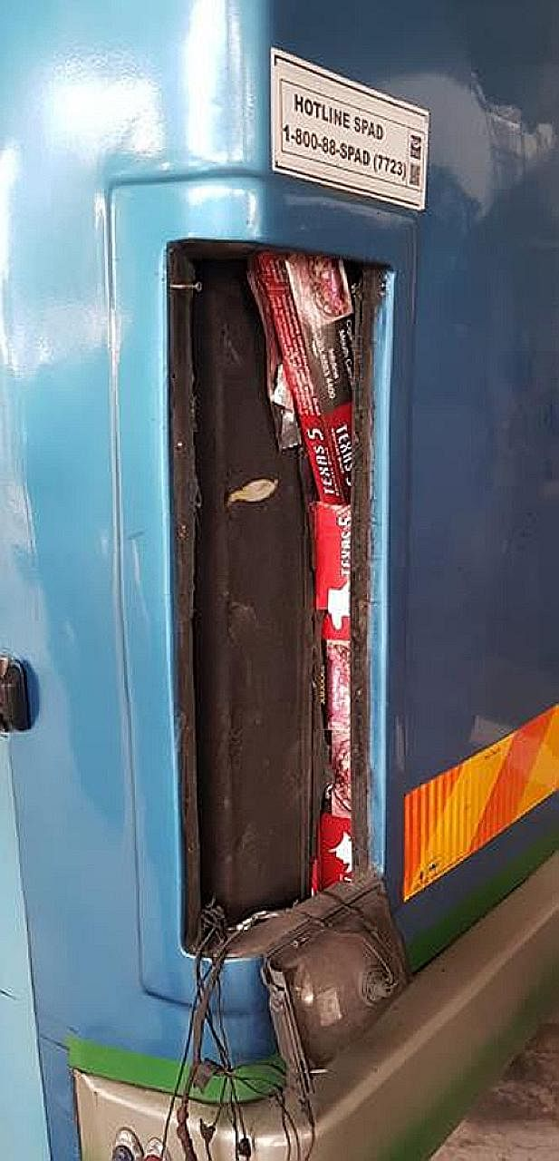 Scanners found contraband cigarettes hidden inside the engine bay of a bus.