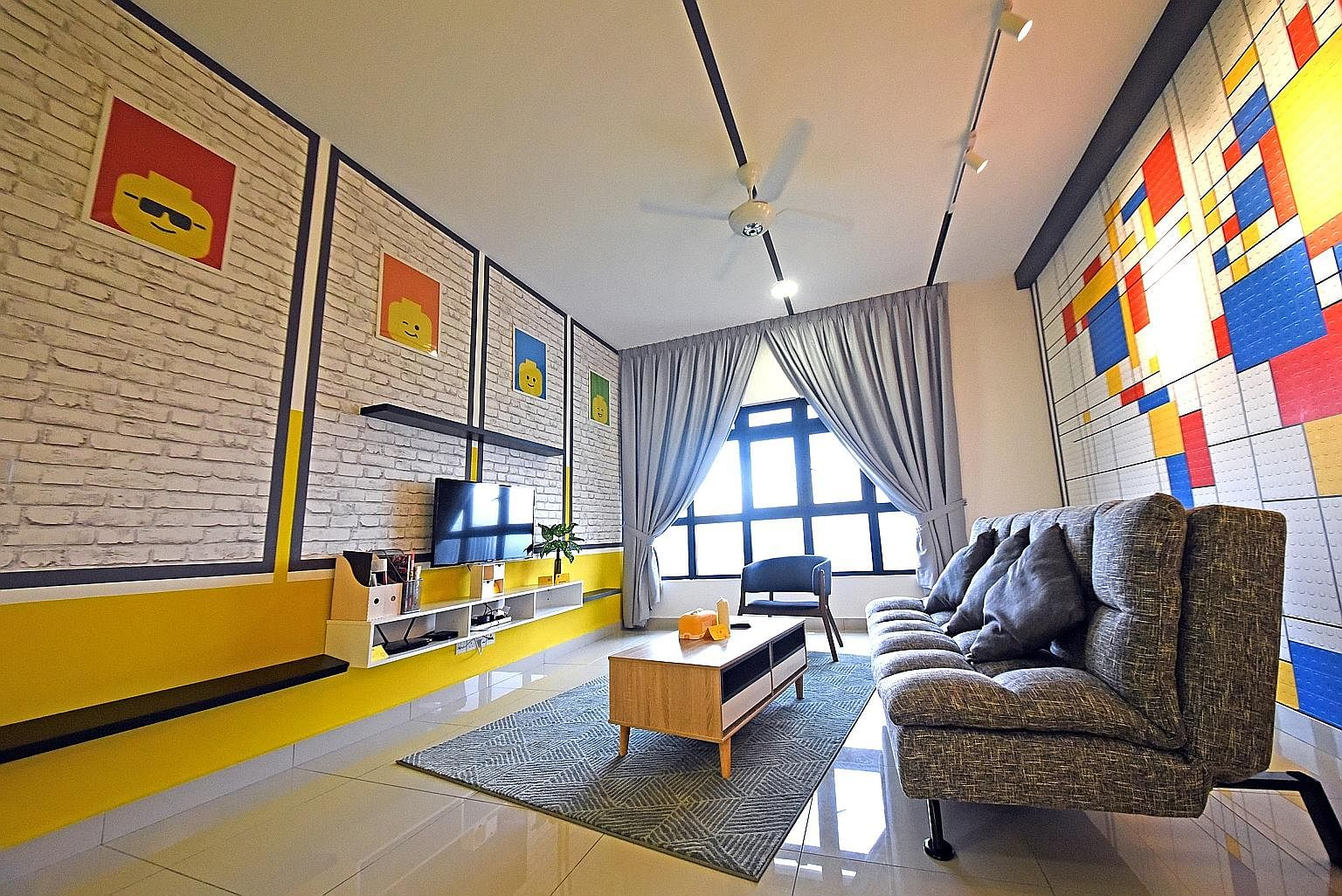 Mr Colin Goh and his wife Jessica Loke turned their condo unit at The Meridin in Medini into a lego-themed apartment for rent as their property was near Legoland. They were pleasantly surprised by the attention it got on social media platforms like I