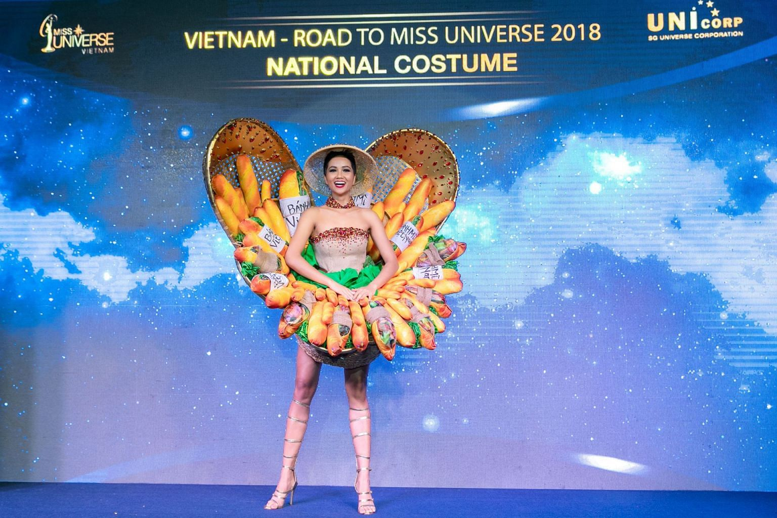Miss Vietnam\u0027s baguette,themed national costume design for Miss Universe  2018 causes a stir, SE Asia News \u0026 Top Stories , The Straits Times