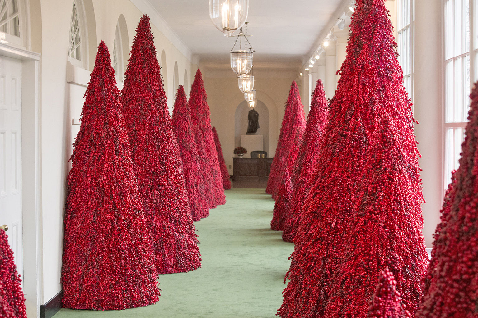 Melania Trump S Fantastic Blood Red Christmas Trees Too Provocative For Some United States News Top Stories The Straits Times