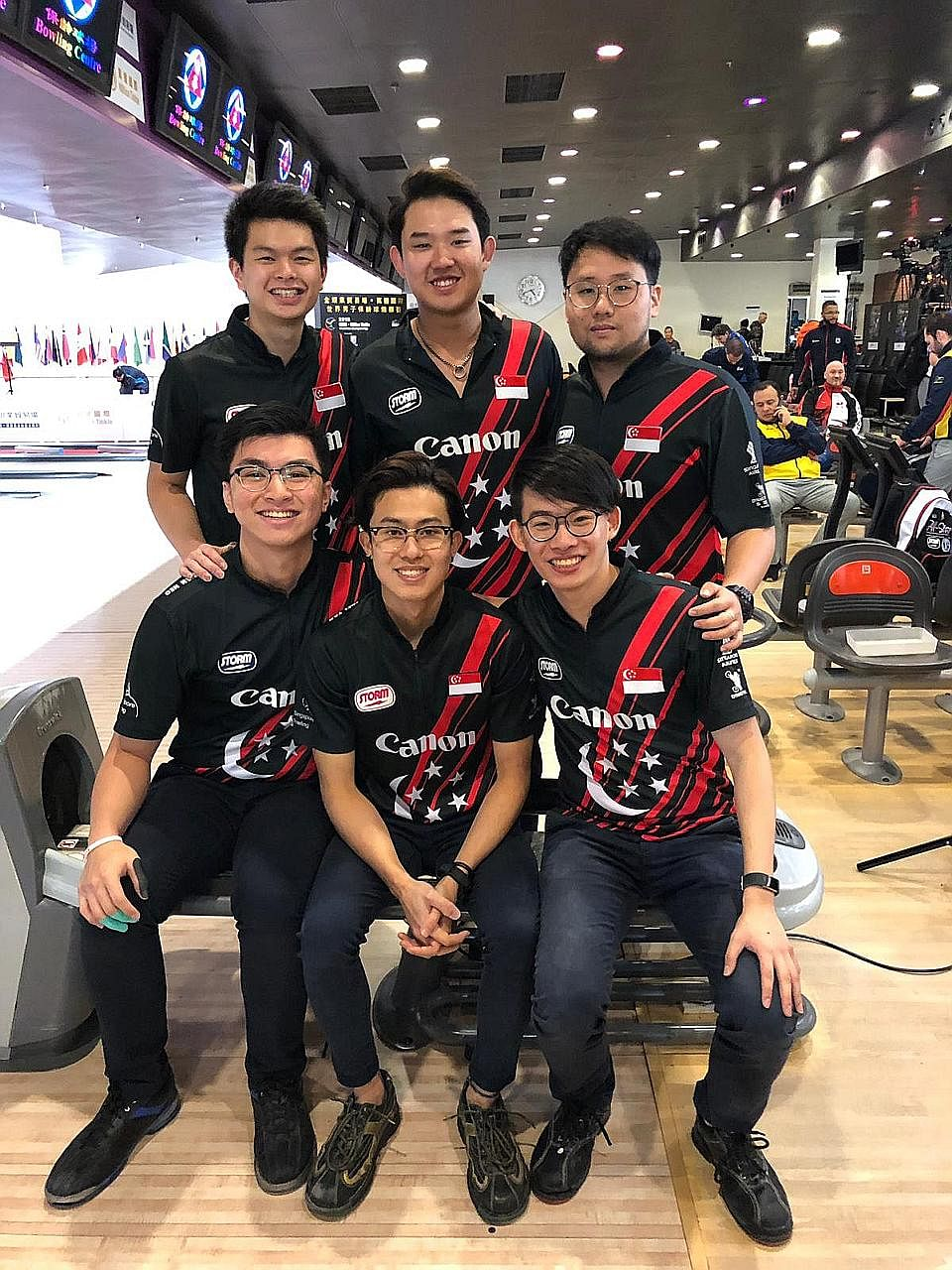 Singapore's Darren Ong, seen here in action at the Asian Games trios competition earlier this year, was one of just two athletes to bowl more than 200 pinfalls in all six games in the World Bowling Men's Championships team-of-five event yester