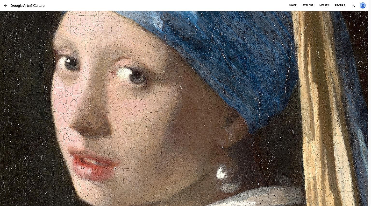 Vermeer's 36 works go on show via art app