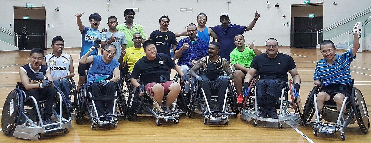 Wheelchair Rugby (Singapore) was among the new charities registered last year. There are about 10 active players here - all men with spinal cord injuries caused by accidents or illnesses.