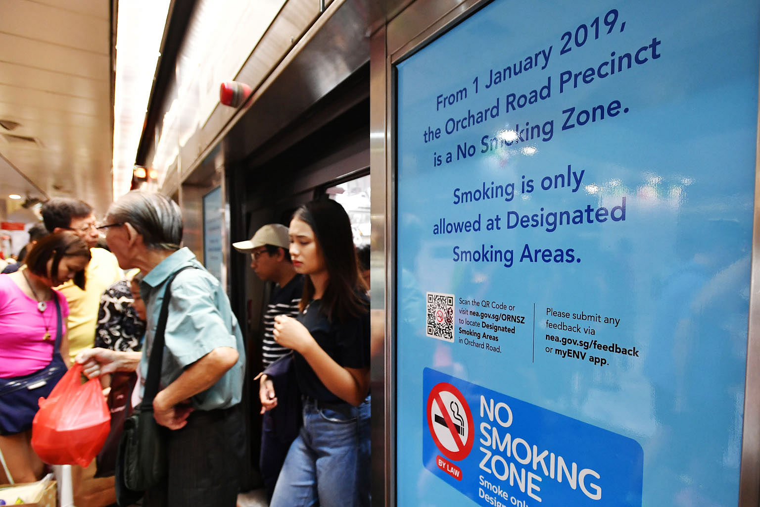 This year's Orchard Road smoking ban and increase of the minimum legal age for smoking from 18 to 19, and progressively to 21 by 2021, are among the Government's efforts to curb smoking.