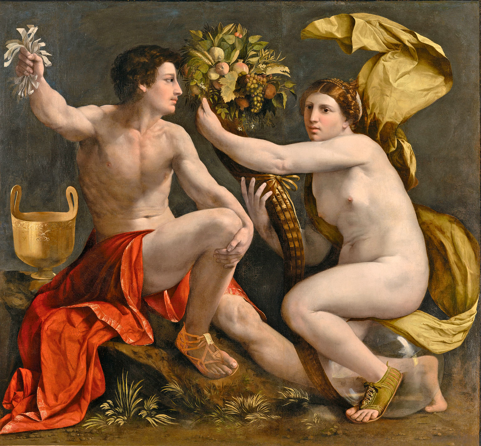 Italian artist Dosso Dossi's oil on canvas, Allegory Of Fortune (1530, right), is featured in The Renaissance Nude exhibition.